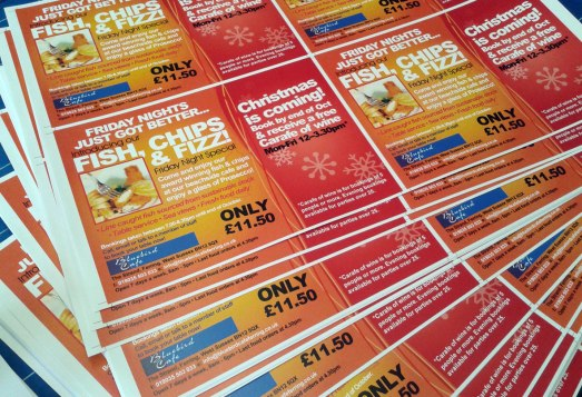 A5 flyers available at PEP the Printers