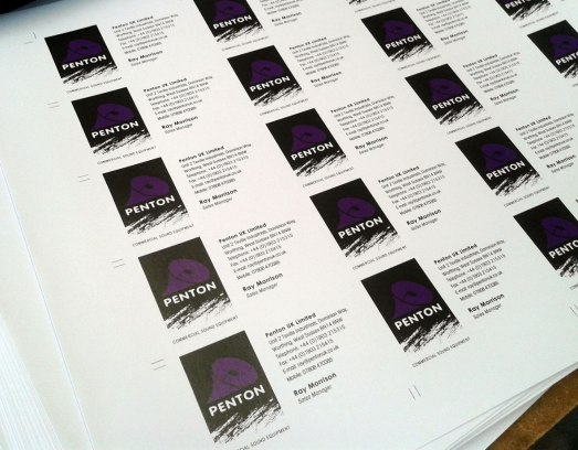 Business cards available at PEP the Printers